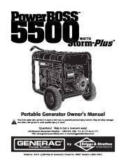 Generac 5500 Generator Owners Manual page 1