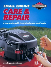 Briggs And Stratton Small Engine Care And Repair Generator Manual page 1