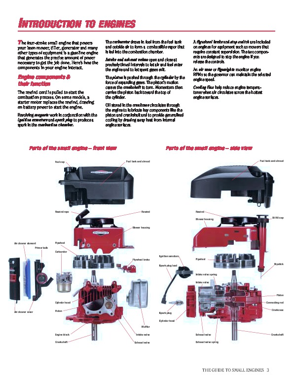 BRIGGS & STRATTON SERVICE & TROUBLESHOOTING MANUAL …