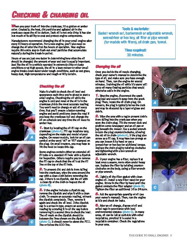 Briggs And Stratton Small Engine Care And Repair Generator