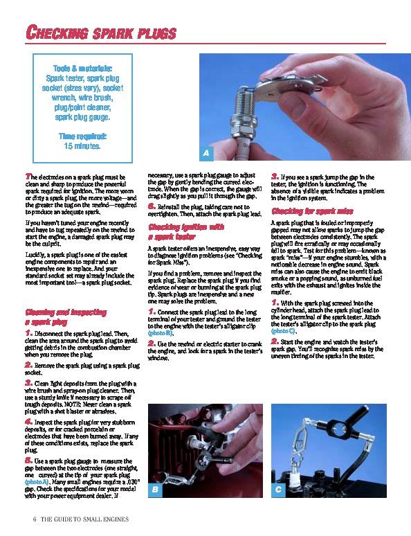 Engine repair manual briggs and stratton