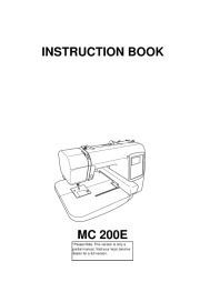 Janome MC 200E Sewing Machine Instruction Owners Manual page 1