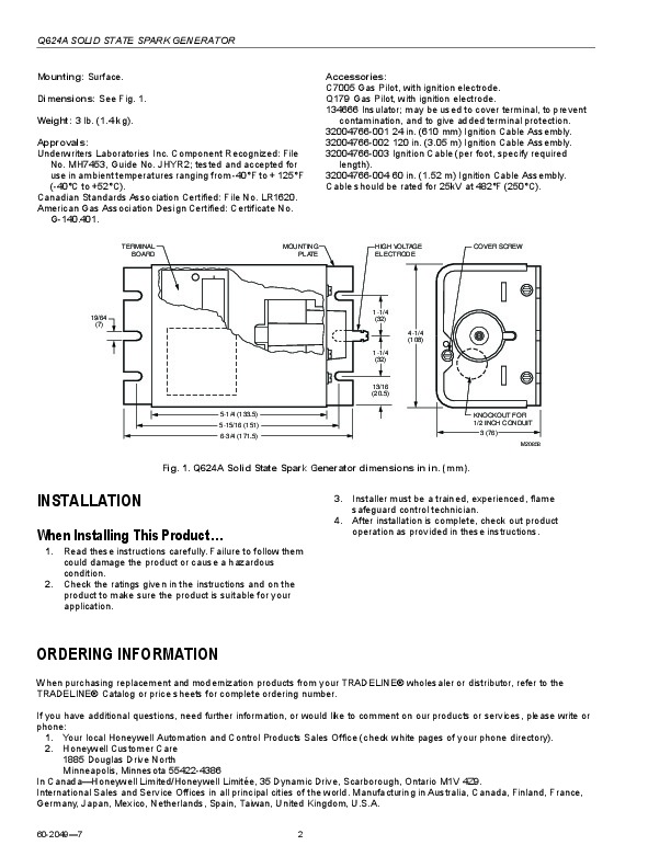 Honeywell solid state spark generator q624a owners manual honeywell solid state spark generator q624a owners manual page 2 swarovskicordoba Gallery