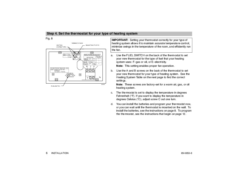 Honeywell Magicstat Ct3200 Programmable Thermostat Installation. Honeywell Magicstat Ct3200 Programmable Thermostat Installation Instructions Page 6. Wiring. Honeywell Room Thermostat Wiring Diagram At Eloancard.info