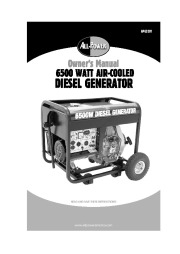 All Power America 6500 APG3201 Generator Owners Manual page 1