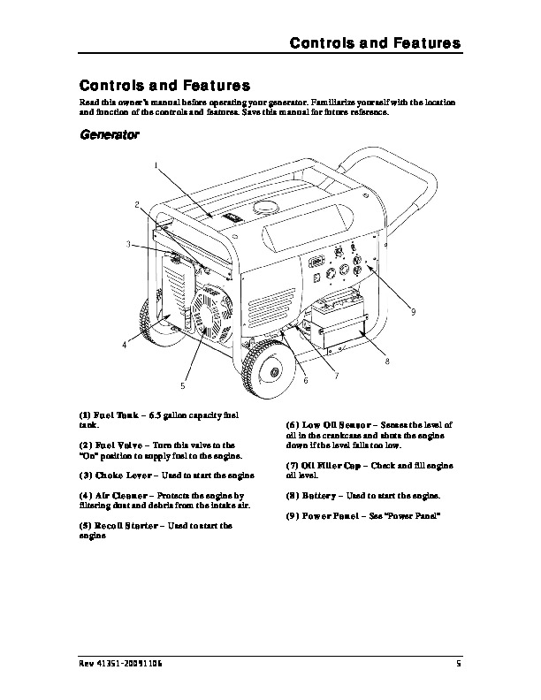 Champion 6500 7800 Generator Owners Manual
