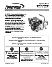 Coleman Powermate PM01103002 Generator Owners Manual page 1