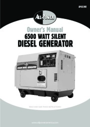 All Power America 6500 APG3202 Silent Diesel Generator Owners Manual page 1