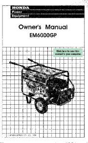 Honda Generator EM6000GP Owners Manual page 1