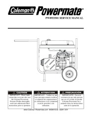 Coleman Powermate PW0933501 Generator Service Manual page 1
