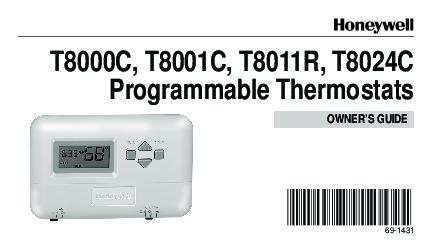 honeywell programmable thermostats t8000c t8001c t8011r t8024c rh needmanual com Vivint Thermostat User Manual Vivint Thermostat User Manual
