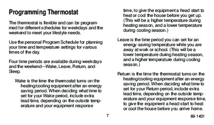Honeywell Programmable Thermostats T8000C T8001C T8011R T8024C ... on honeywell rth221b, honeywell th8000, honeywell thermostats, honeywell t800, honeywell th8110u1003,