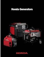 2009 Honda Generator EU EM EB EP Series Catalog page 1