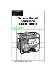 Honda Generator EB3000 EB4000 Owners Manual page 1