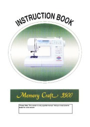 Janome Memory Craft 3500 Sewing Instruction Manual page 1