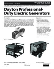 Dayton 3WY47 3W735B 3W736C 3WY44 3TE27A 3WY45 3WY46 Generator Parts page 1