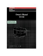 Honda Generator EX5500 Owners Manual page 1
