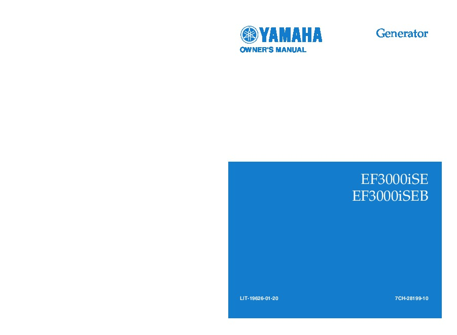 yamaha ef3000ise ef3000iseb generator owners manual rh home appliance needmanual com Yamaha Wiring Schematic 1887 Exciter Yamaha Diagrams