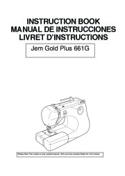Janome Gold Plus 661G Sewing Machine Owners Manual page 1