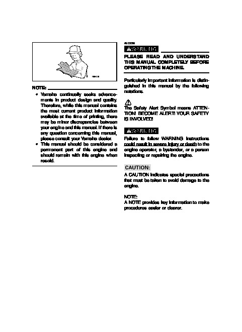 Yamaha ef 6000 generator manual on