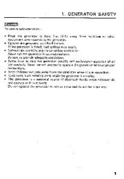 Honda Generator ES6500 EL5000 Owners Manual page 3
